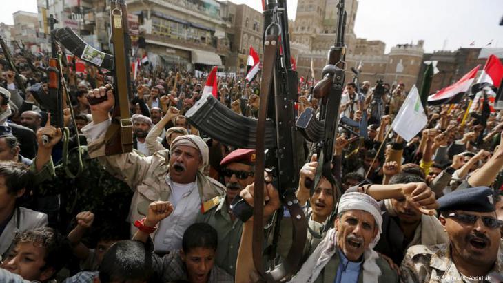 Huthi-Rebellen in Sanaa; Foto: DW/Abdullah