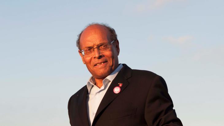 Der tunesische Ex-Präsident Moncef Marzouki, Foto: Sarah Mersch/DW