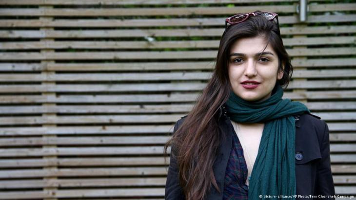 Die iranisch-stämmige Studentin Ghoncheh Ghavami; Foto: picture-alliance/AP