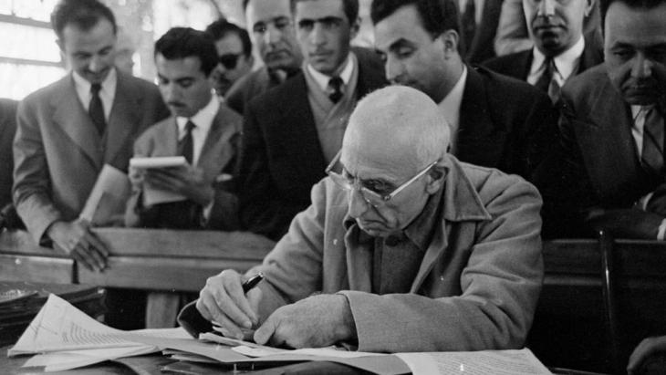 Irans gestürzter Premierminister Dr. Mohammad Mossadegh; Quelle: Tarikhirani.ir