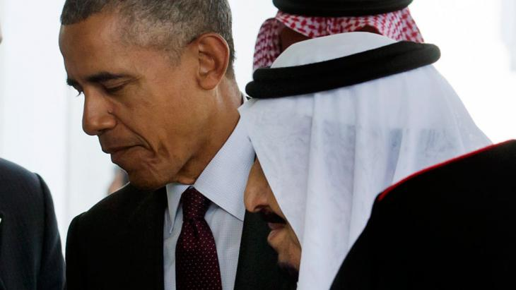 Barack Obama empfängt König Salman bin Abdulaziz Al Saud am 4. September 2015 in Washington; Foto: picture-alliance/epa/M. Reynolds
