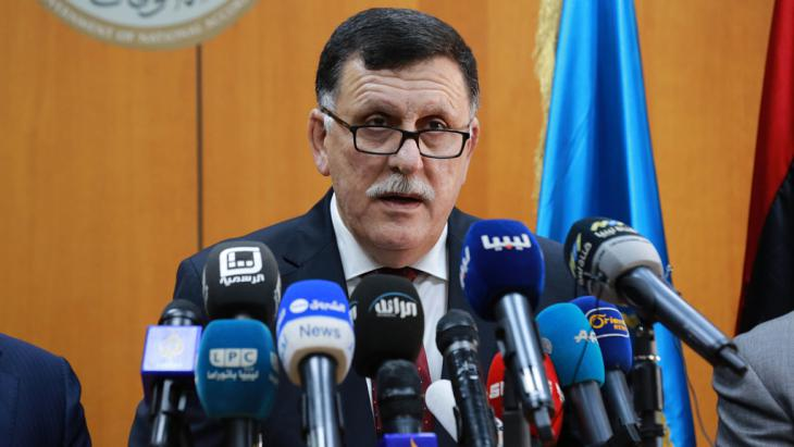 Libyens Ministerpräsident Fajis al-Sarradsch; Foto: Getty Images/AFP/Str