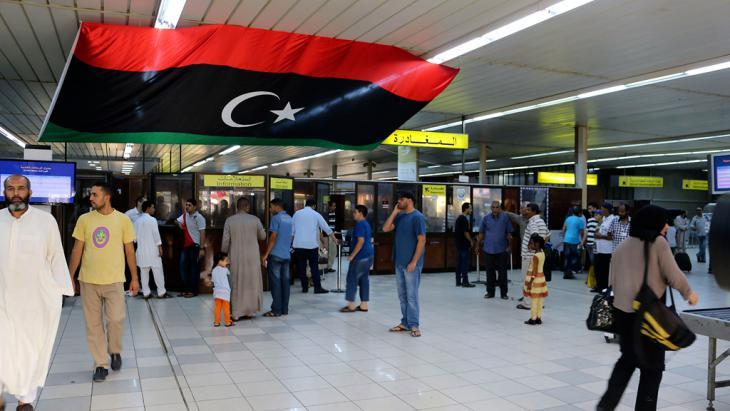 Eingangshalle des libyschen Militärflughafens Mitiga; Foto: Reuters