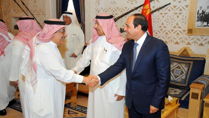 Al-Sisis bei König Salman in Saudi-Arabien; Foto: picture alliance/ZUMA Press