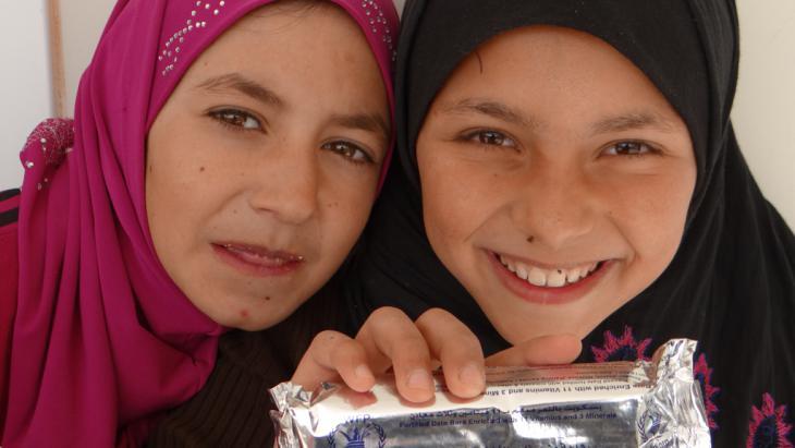 Welternährungsprogramm WFP: Nahrung für Flüchtlinge in Zaatari; Foto: WFP/Dina Elkassaby
