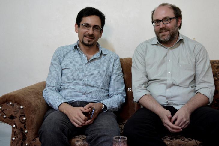André Bank (r.) und Yazan Doughan; Foto: Jannis Hagmann