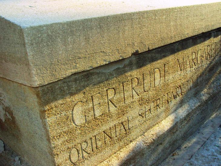 Grab von Gertrude Margaret Lowthian Bell. Foto: Birgit Svensson