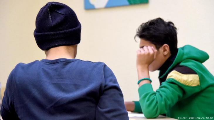 Junge Flüchtlinge in Deutschland; Foto: dpa