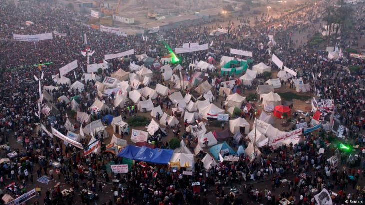 Demonstration am Tahrirplatz gegen das Mubarak-Regime im Jahr 2011; Foto: Reuters
