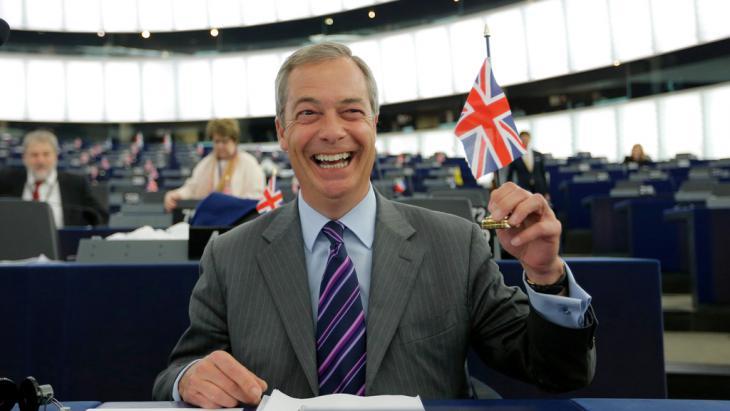 Ukip-Vorsitzender Nigel Farage; Foto: Reuters/V. Kessler