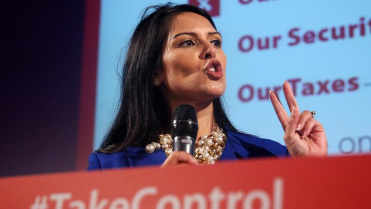 Großbritanniens konservative Politikerin Priti Patel; Foto: Reuters/N. Hall