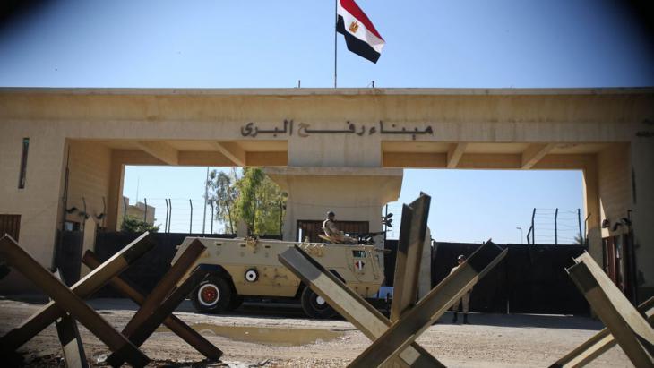 Ägyptens Grenze bei Rafah; Foto: Reuters/I. Abu Mustafa