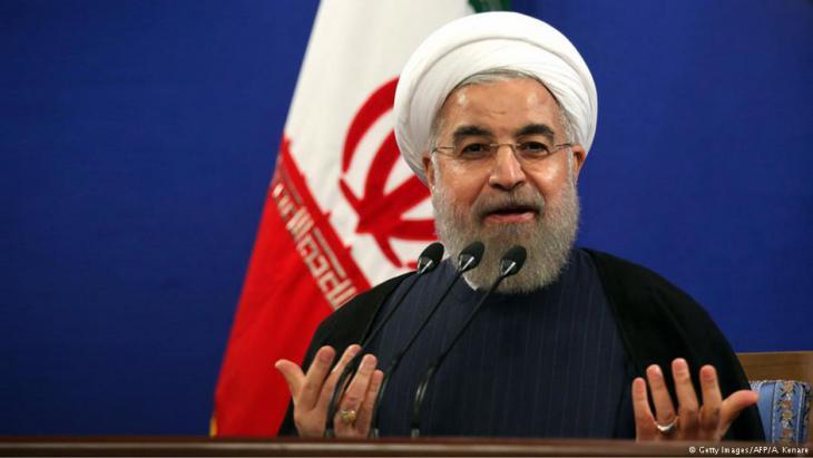 Iranischer Präsident Rohani: Foto: Getty Images afp