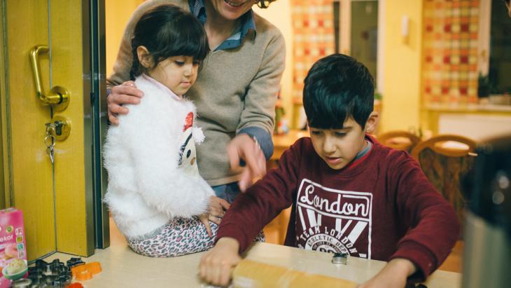 Flüchtlingskinder in einer Erstaufnahmeeinrichtung in Dresden; Foto: picture-alliance/dpa/O. Killig