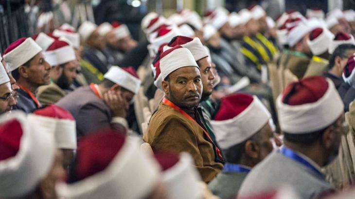 Sunnitische Gelehrte auf einer Konferenz der Azhar in Kairo; Foto: AFP/Getty Images/K.Desouki