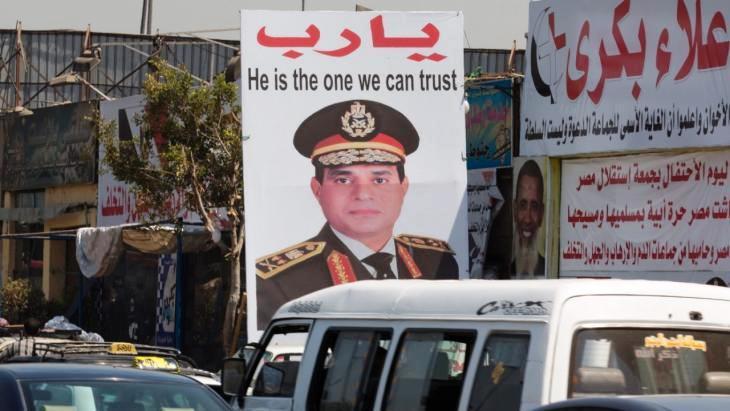 Werbetafel für Abdelfattah al-Sisi in Kairo; Foto: Foto: Michael Kappeler/dpa