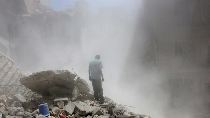 Zerstörungen in Aleppo; Foto: Reuters/A. Ismail