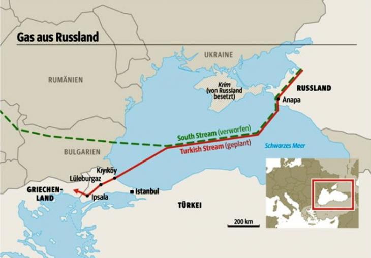 """Gasleitung """"Turkish Stream""""; Grafik: SZ"""