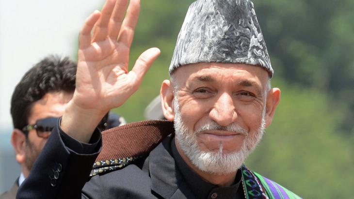 Afghanistans ehemaliger Präsident Hamid Karzai, Foto: RAVEENDRAN/AFP/Getty Images