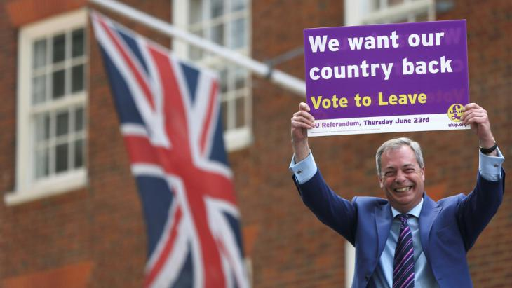 Ex-Ukip-Chef und Brexit-Befürworter Nigel Farage; Foto: Reuters/N. Hall