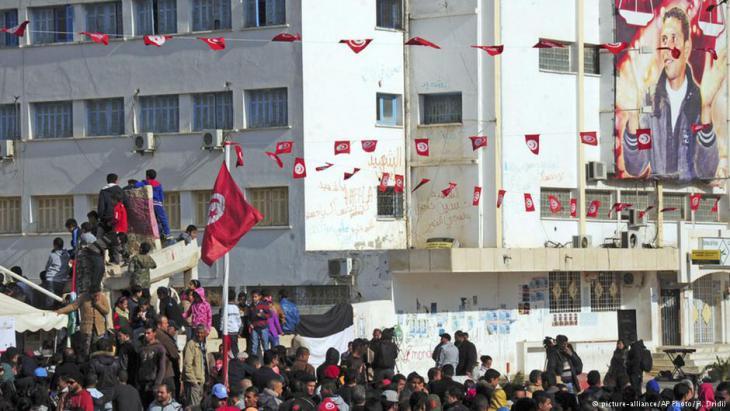 Jahrestag zum Arabischen Frühling in Tunesien; Foto: picture-alliance/ AP Photo/ H. Dridi