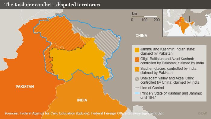 Infografik Kaschmirkonflikt; Foto: DW