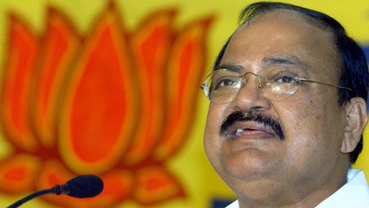 Indiens Informationsminister Venkaiah Naidu; Foto:  INDRANIL MUKHERJEE/AFP/Getty Images