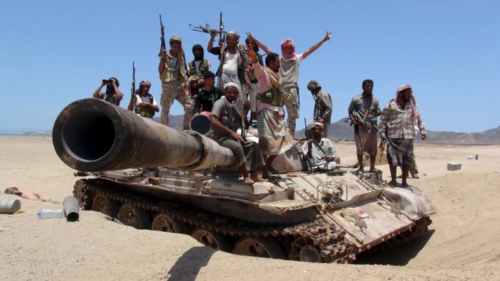 Anti-Huthi-Rebellen in der Nähe von Aden; Foto: Reuters