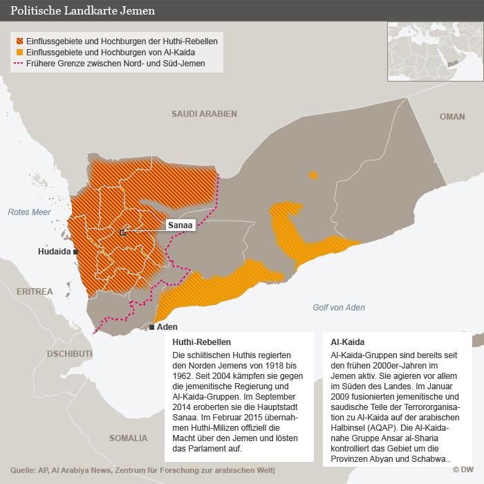 Infografik Jemenkonflikt; Foto: DW