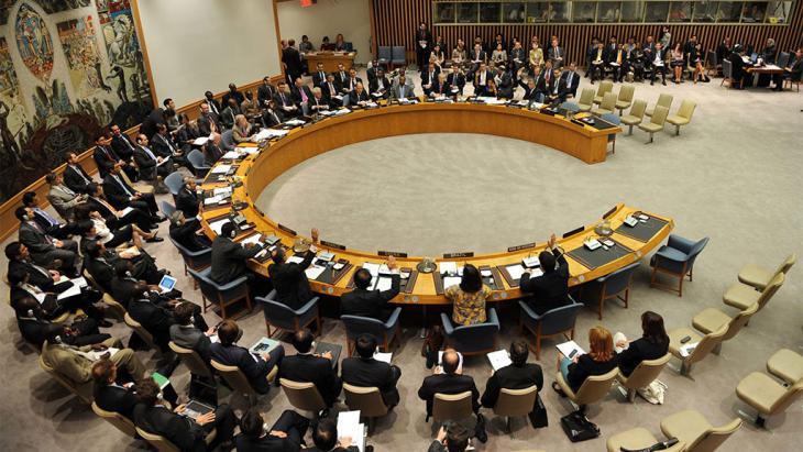 Sitzung des UN-Sicherheitsrats; Foto: picture-alliance/Photoshot