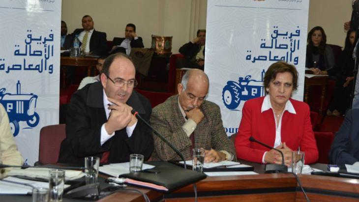 Mitglieder der PAM während eines Parteitreffens in der marokkanischen Hauptstadt Rabat; Foto: DW/A. Errimi