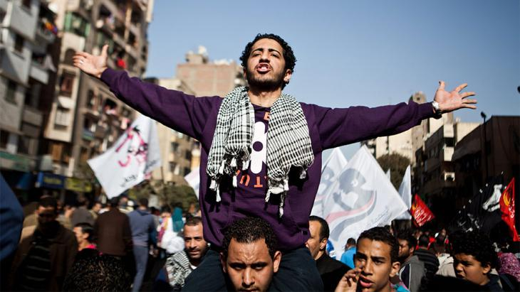 Arabellion am Tahrir-Platz in Kairo; Foto: picture-alliance/dpa
