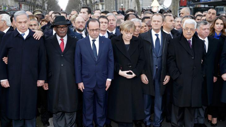 Trauermarsch in Paris am 11. Januar 2015; Foto: Reuters/Wojazer