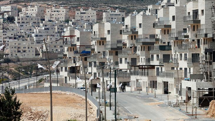 Siedlung Givat Zeev nahe der Westbank-Stadt Ramallah; Foto: Getty Images/AFP/T. Coex