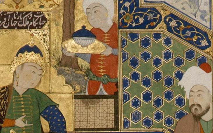 """Zeichnung aus Ferdowsis """"Shahnameh""""; Quelle: wikipedia"""