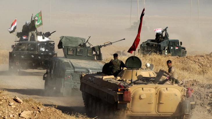 Einheiten der irakischen Armee vor Mossul; Foto: Ahmad Al-Rubaye/AFP/Getty Images