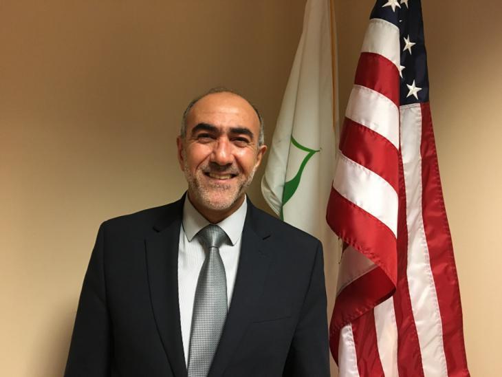 """Oussama Jammal, Vorsitzender der """"Mosque Fondation"""" in Bridgeview; Foto: Canan Topçu"""