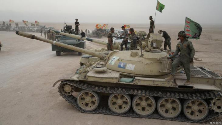 Schiitische Batallione auf dem Weg nach Mossul; Foto: Reuters