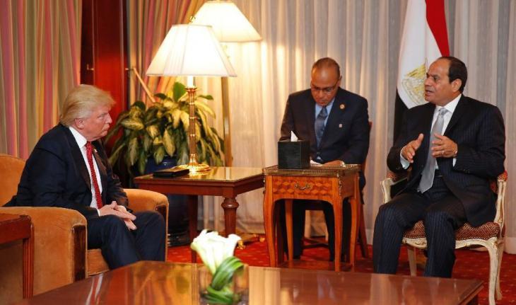 Ägyptens Staatschef Al-Sisi trifft Trump in New York; Foto: AFP/Dominick Reuter