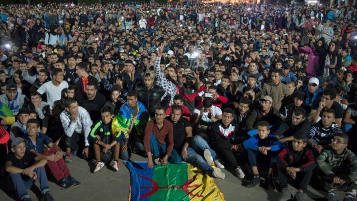 Soziale Proteste in Hoceima; Foto: AFP