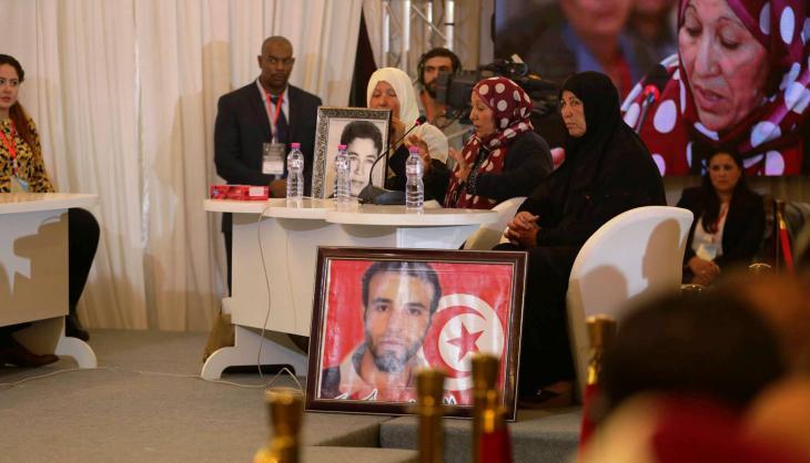 """Öffentliche Anhörung der Wahrheitskommission in Tunis; Quelle: Pressestelle """"Instanz für Wahrheit und Würde"""" (IVD)"""