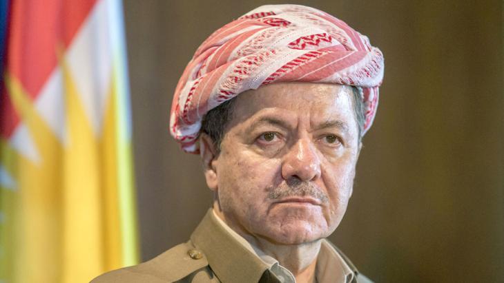 Präsident der kurdischen Nationalregierung, Masud Barzani; Foto: picture-alliance/dpa/Michael Kappeler