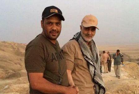 Irans Kommandant Soleimani (hinten) mit kurdischen Kämpfern im Irak; Foto: entekhab
