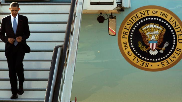 US-Präsident Barack Obama bei seiner Ankunft am Flughafen Schiphol, Niederlande; Foto: Reuters