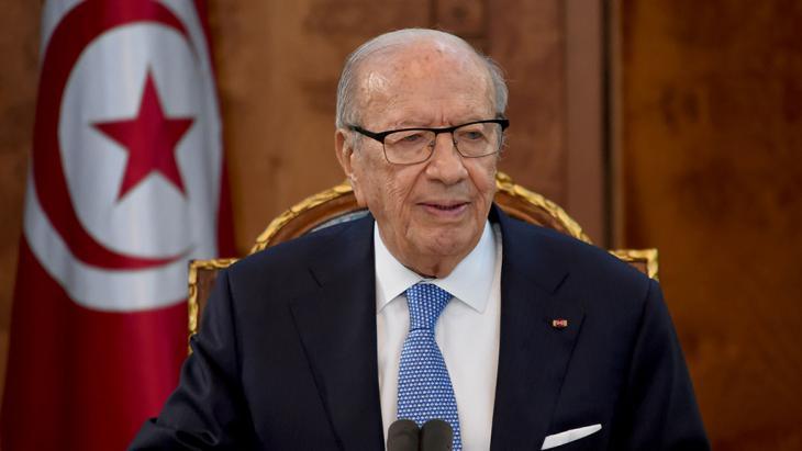 Tunesiens Präsident Beji Caid Essebsi; Foto: Getty Images/AFP/F. Belaid