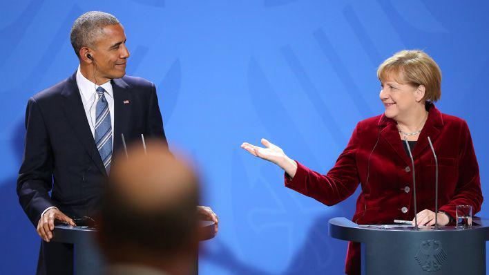 US-Präsident Barack Obama zu Besuch bei Angela Merkel in Berlin im November 2016; Foto: dpa/picture-alliance