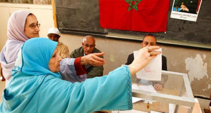 Marokkanische Wählerinnen an den Wahlurnen in Rabat; Foto: dpa