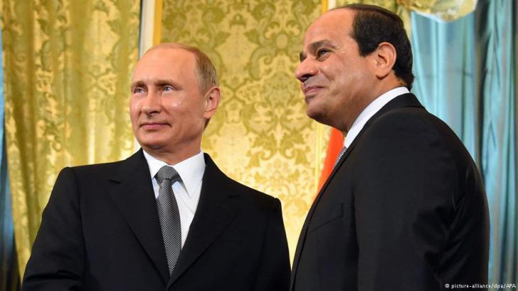 Der ägyptische Präsident Abdel Fattah al-Sisi und Russlands Präsident Putin; Foto: picture-alliance/dpa