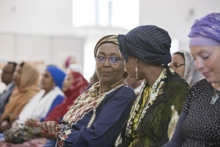 Edna Adan in the audience at the Hargeisa Book Fair, Somaliland (photo: Kate Stanworth)