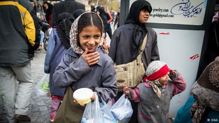 Bettelnde Straßenkinder in den Straßen Teherans, Foto: ISNA